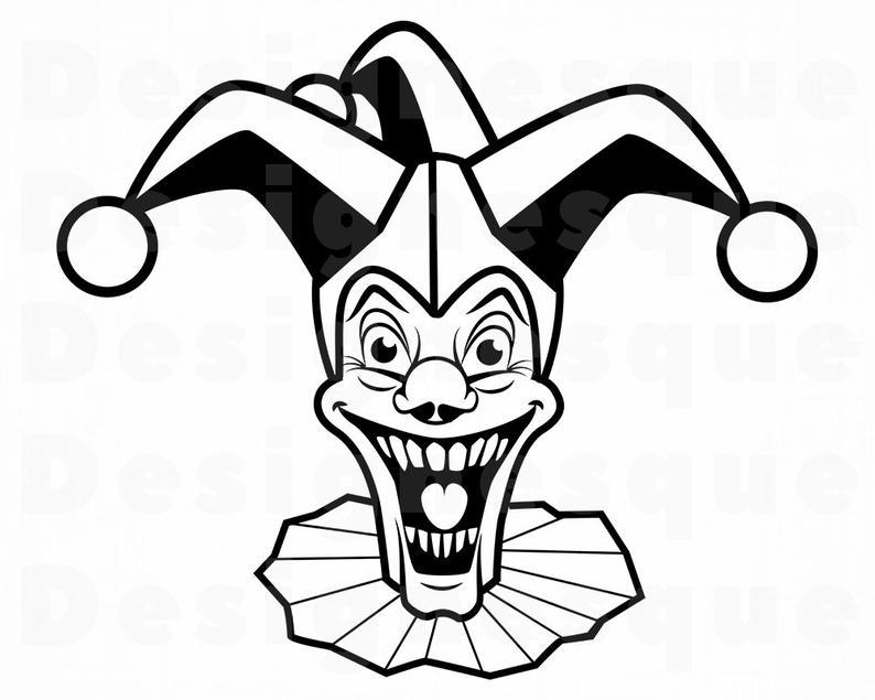 794x635 Joker Jester Clown Joker Clipart Joker Etsy
