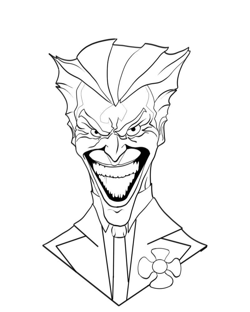 800x1000 Joker Line Art