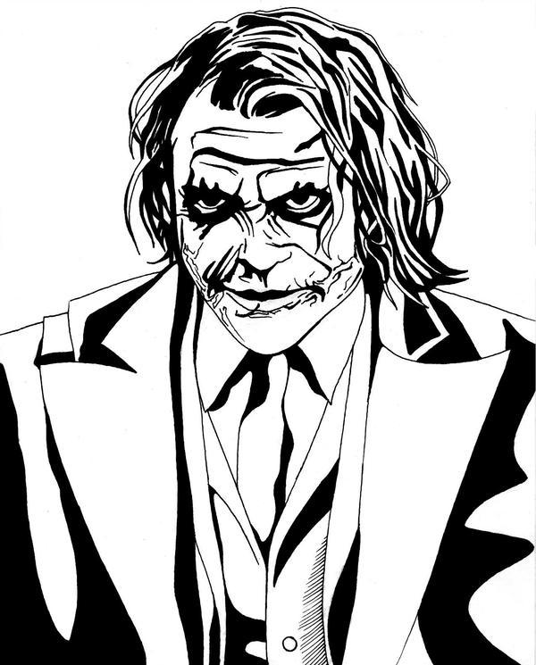 600x745 Joker Line Art