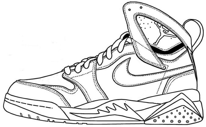 676x417 michael jordan shoes coloring pictures michael jordan coloring