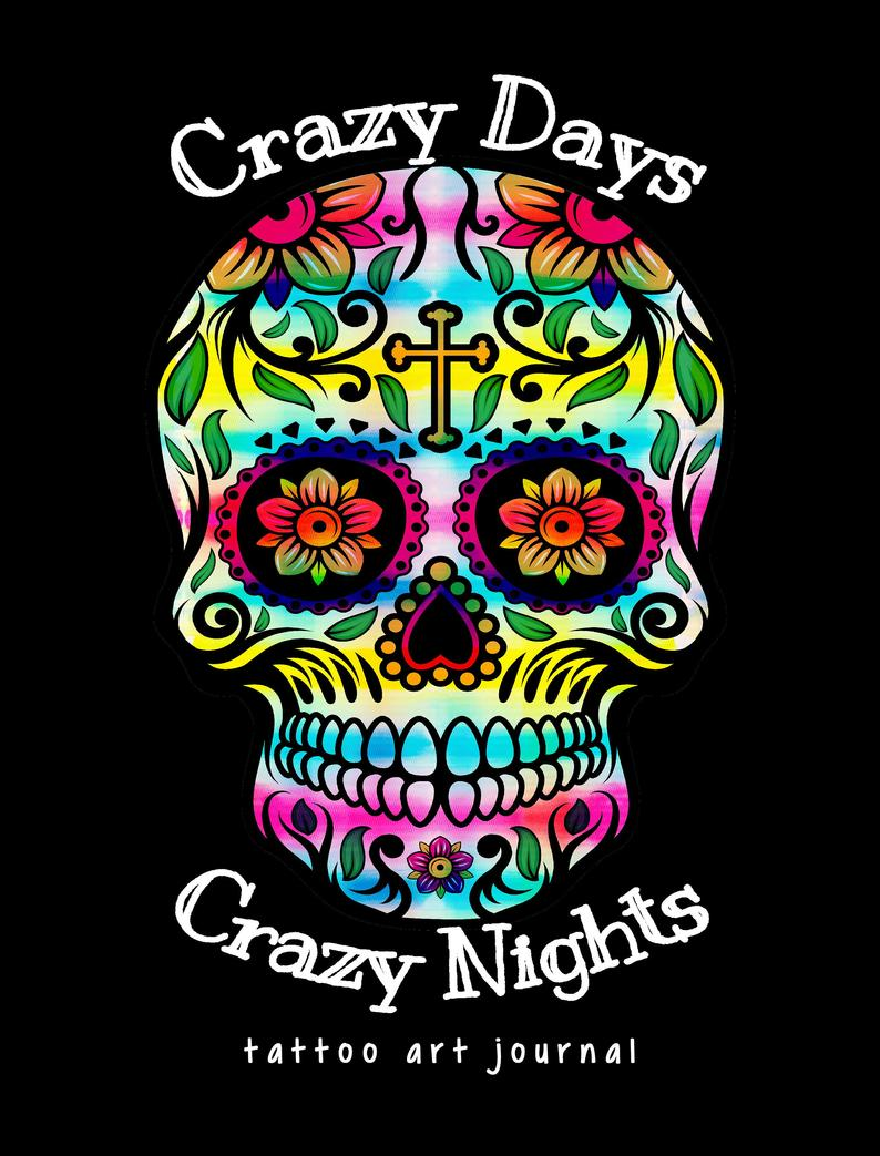 794x1043 crazy days crazy nights tattoo art journal etsy