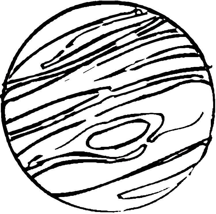 750x742 Jupiter Drawing Outline For Free Download
