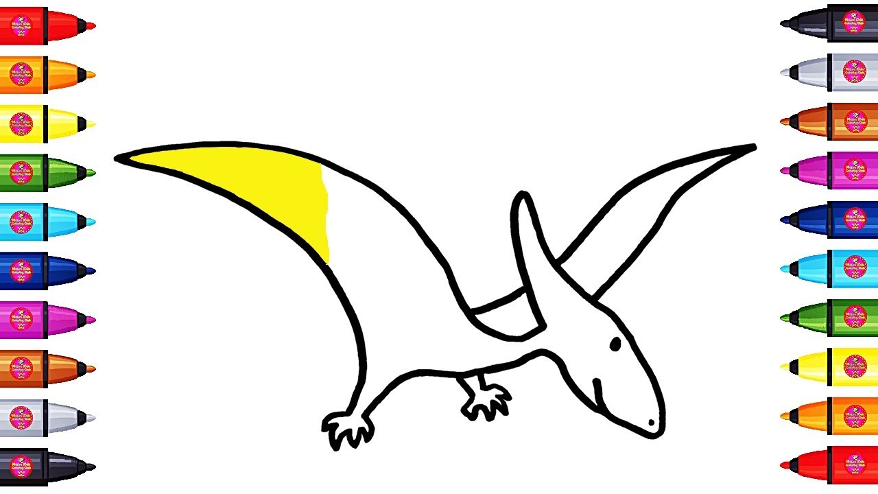 1280x720 Drawing And Painting Pterodactyl From Jurassic Park Coloring Pages