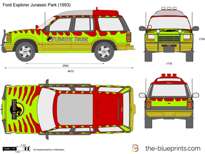 400x300 Ford Explorer Jurassic Park Vector Drawing