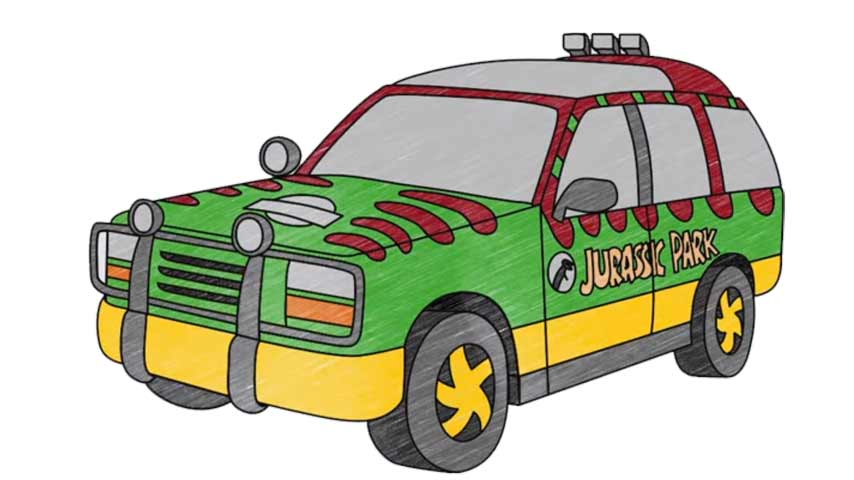 854x480 How To Draw A Jurassic Park Explorer Vehicle