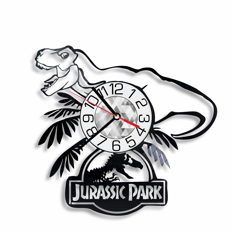 3000x3000 Jurassic Park Dinosaur Vinyl Wall Clock Handmade Wall Art Room Etsy