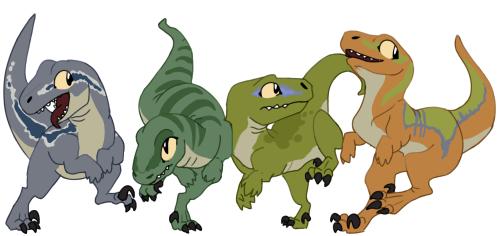 500x236 Drawing Art My Art Dinosaurs Jurassic Park Raptors T Rex