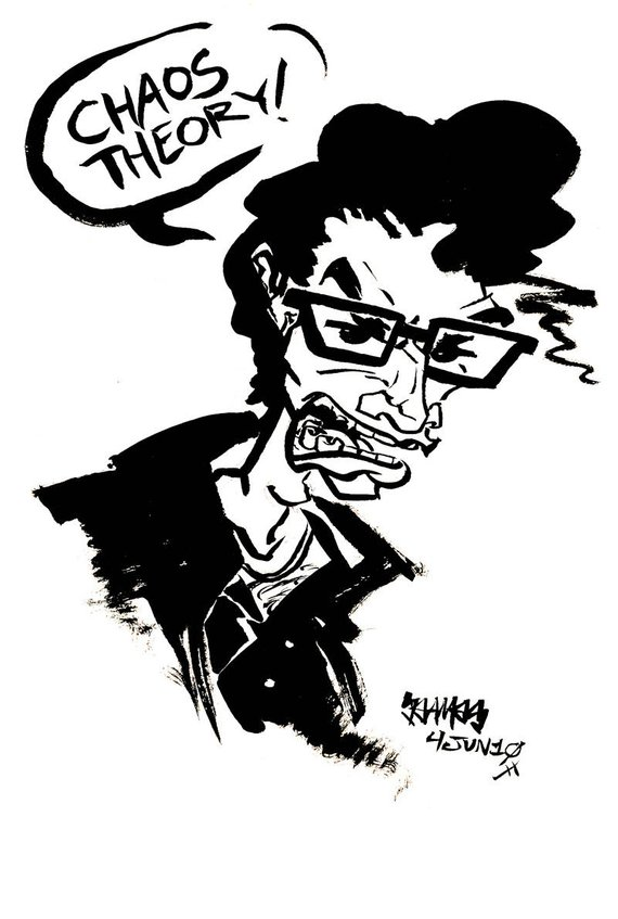 570x847 Dr Ian Malcolm Jurassic Park Small Ink Original Drawing Etsy