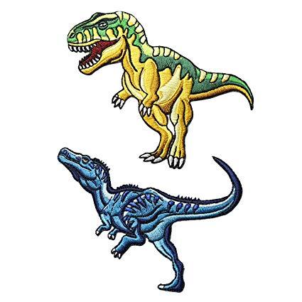 425x425 pcs t rex velociraptor dinosaur world iron