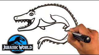 320x180 Dinosaur How To Draw A Mosasaurus