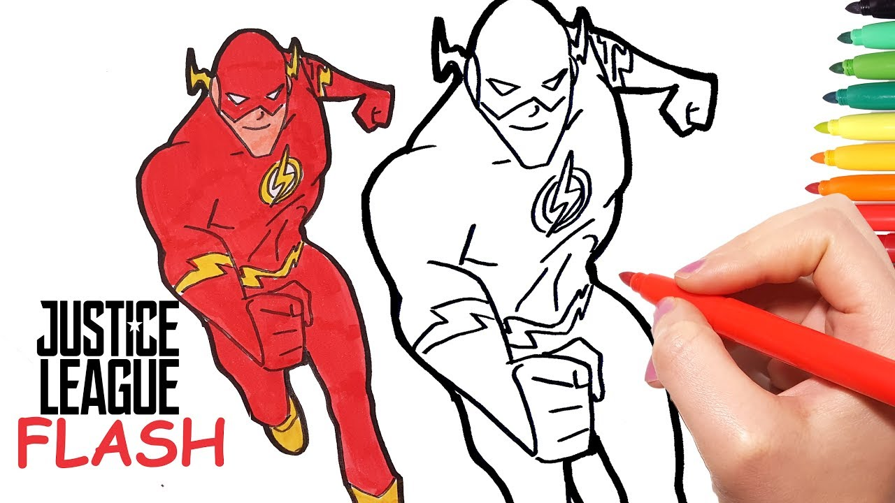 1280x720 how to draw flash learn how to draw and color flash