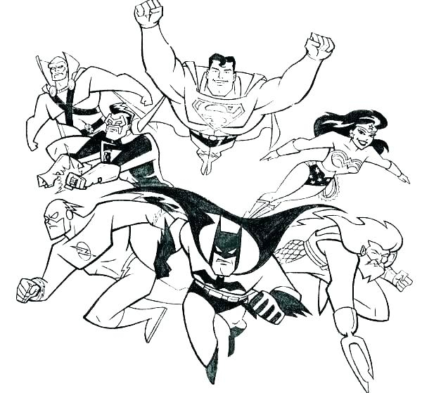 600x559 justice league coloring pages to print lego justice league