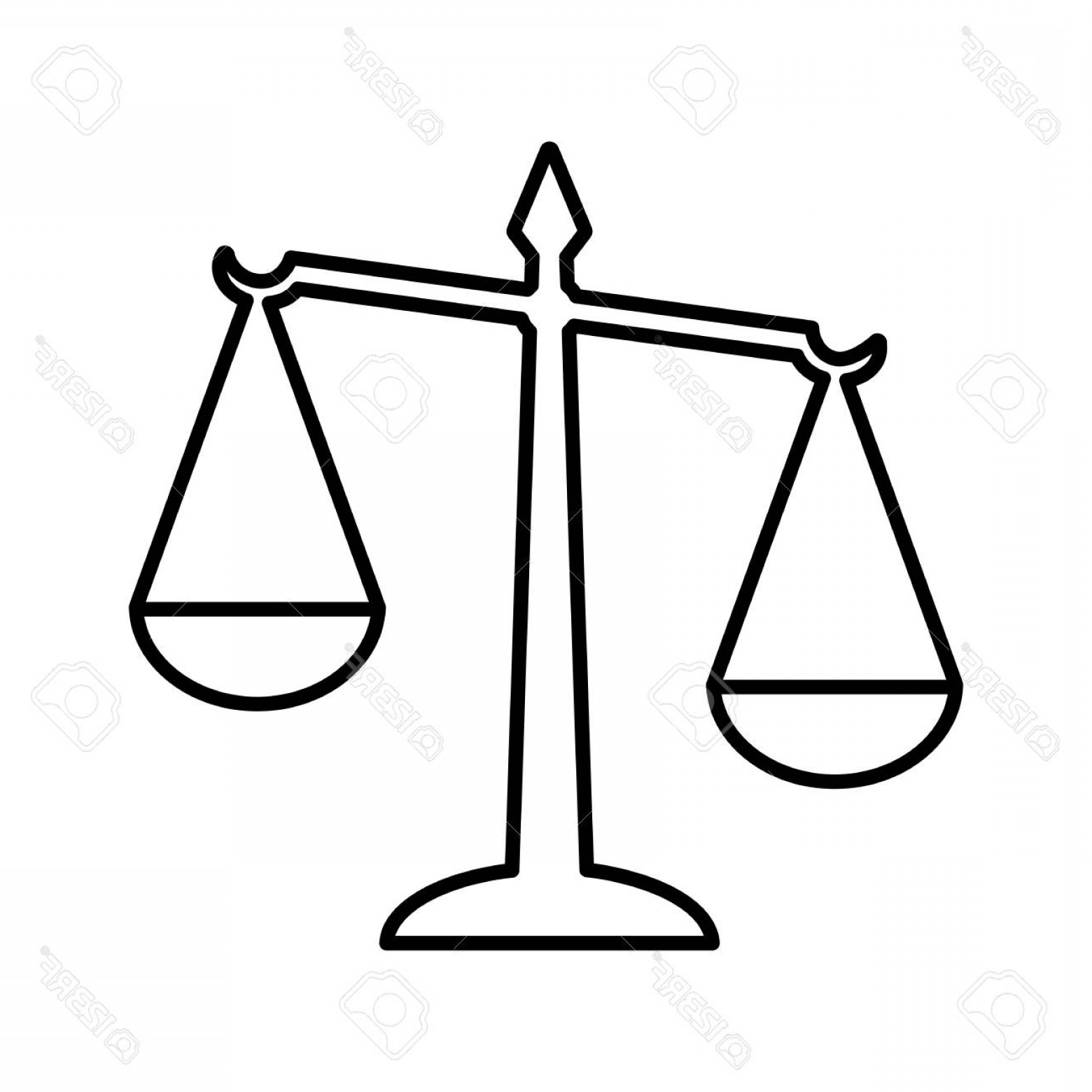 1560x1560 photostock vector law scales of justice line icon symbol of law