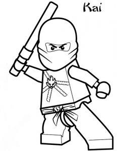 232x300 ninjago coloring sheets lego ninjago coloring pages kai superhero