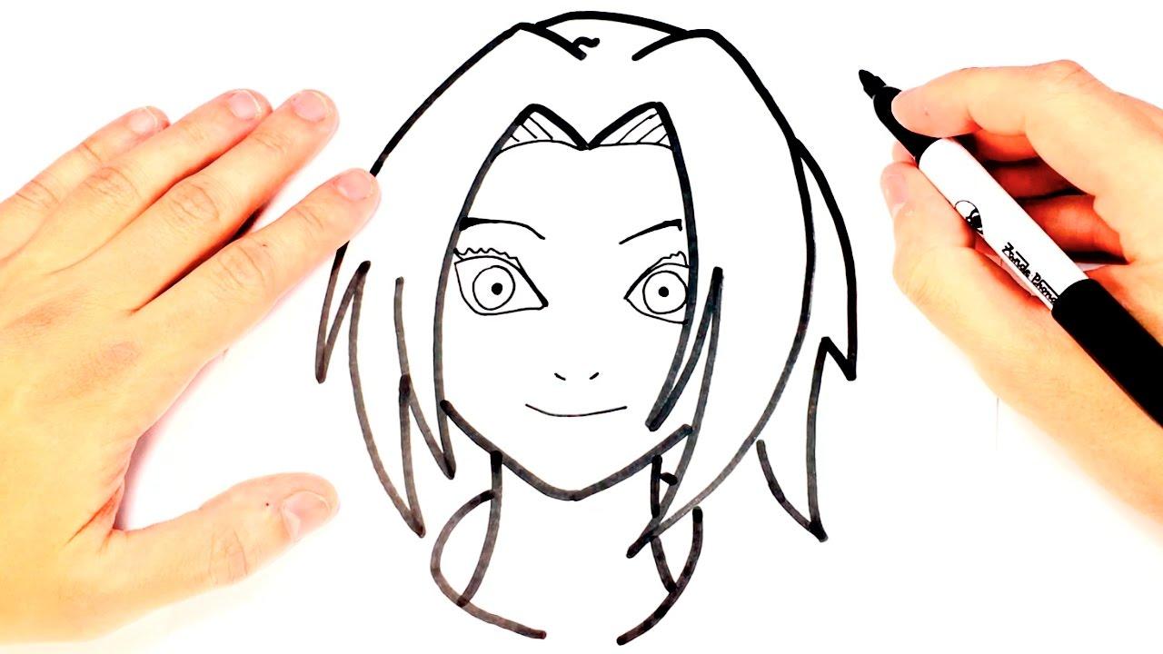 1280x720 how to draw sakura from naruto sakura easy draw tutorial