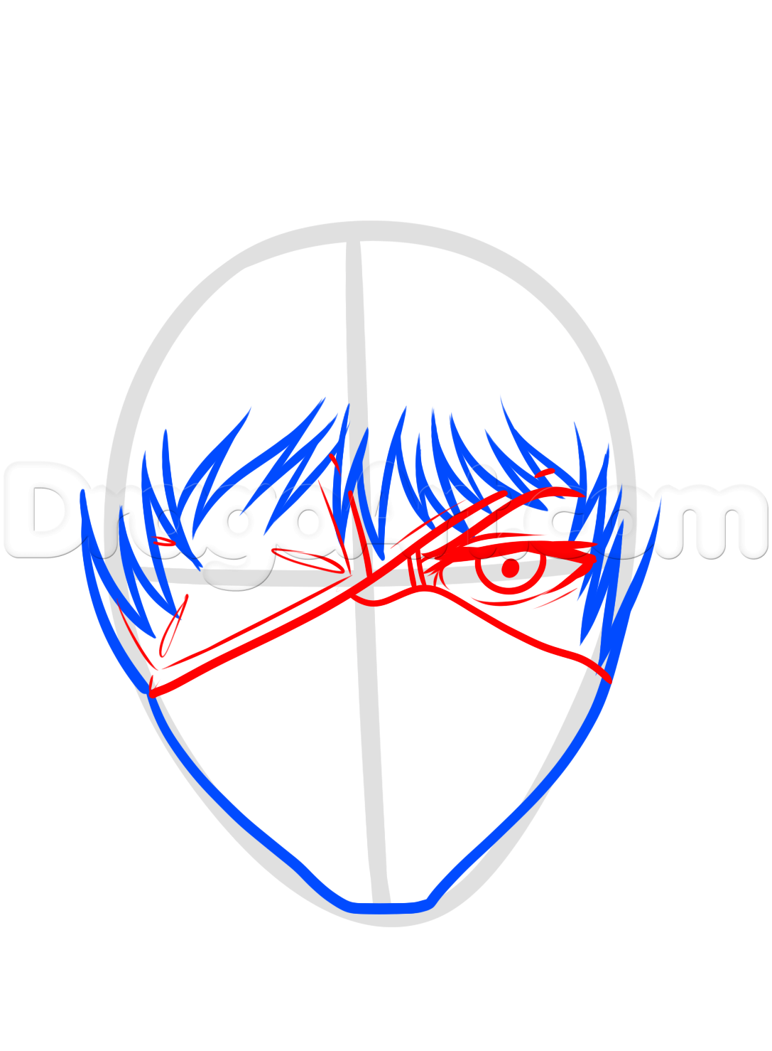 1087x1478 how to draw kaneki ken from tokyo ghoul step tokyo ghoul