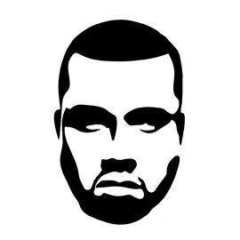 270x270 kanye west stencil stencil in kanye west painting, rapper
