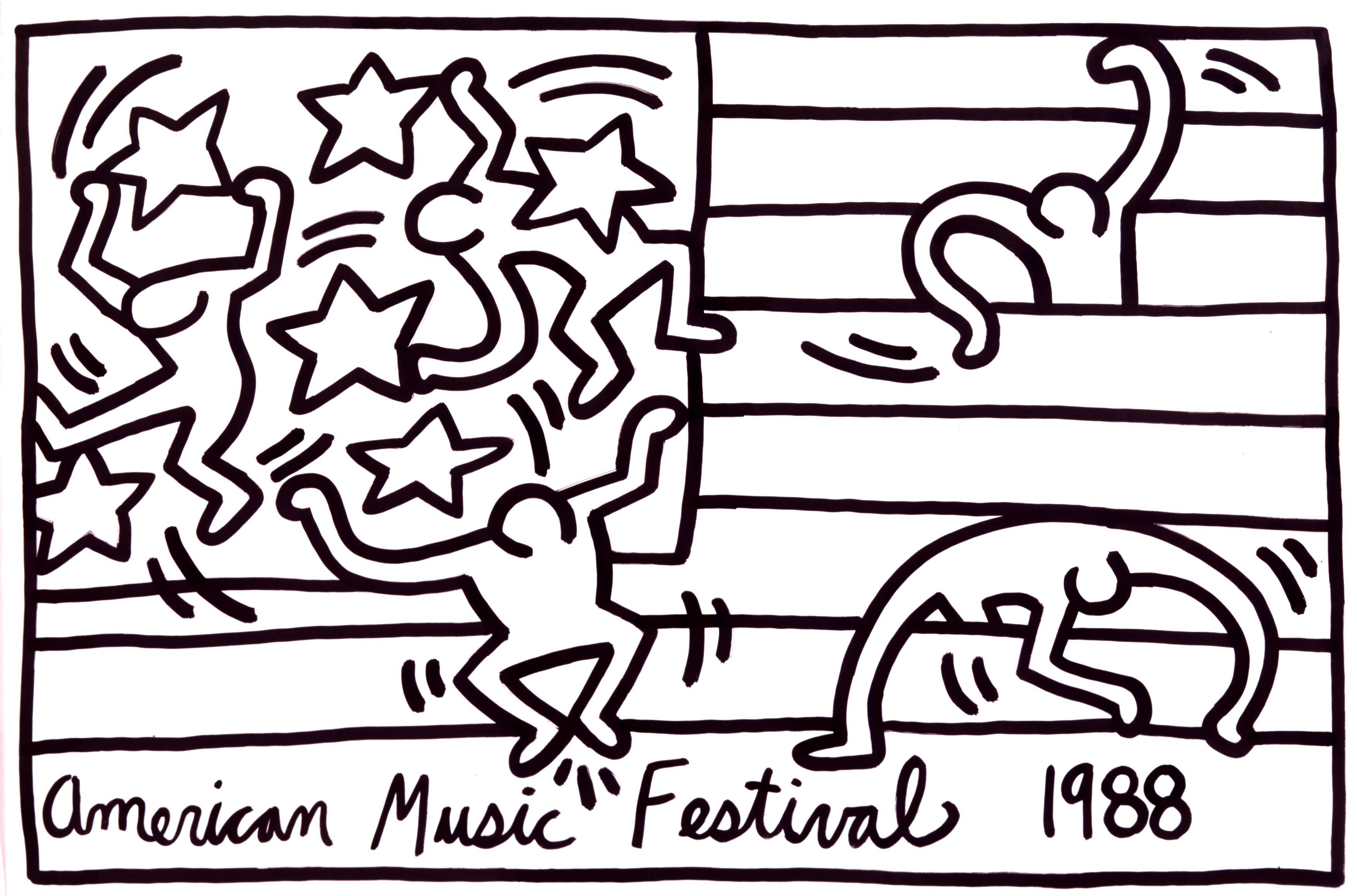Keith Haring Drawings
