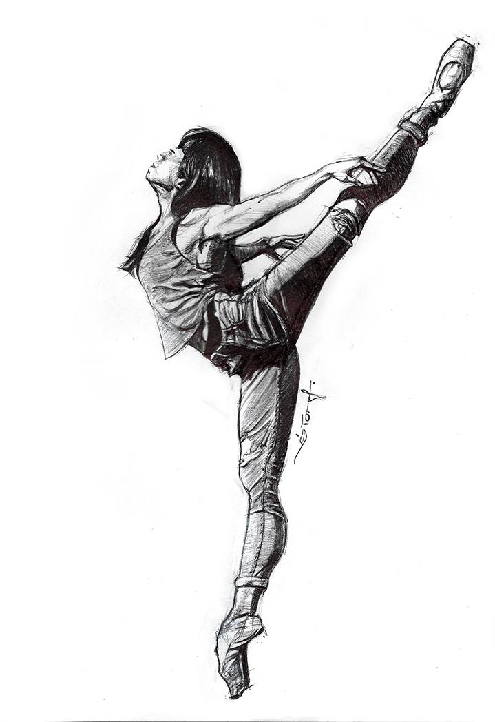 719x1048 ballerina ballpoint pen drawings on behance