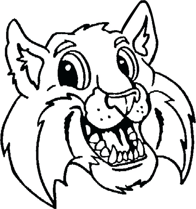 806x858 wildcat coloring pages the wildcat willie wildcat coloring pages