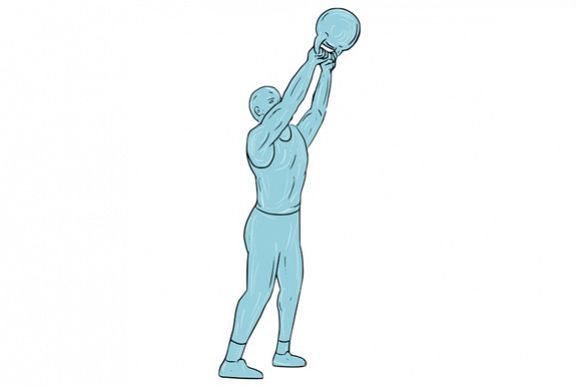 580x387 athlete fitness kettlebell swing drawing