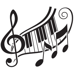 250x250 musical keys and piano keys tattoo design