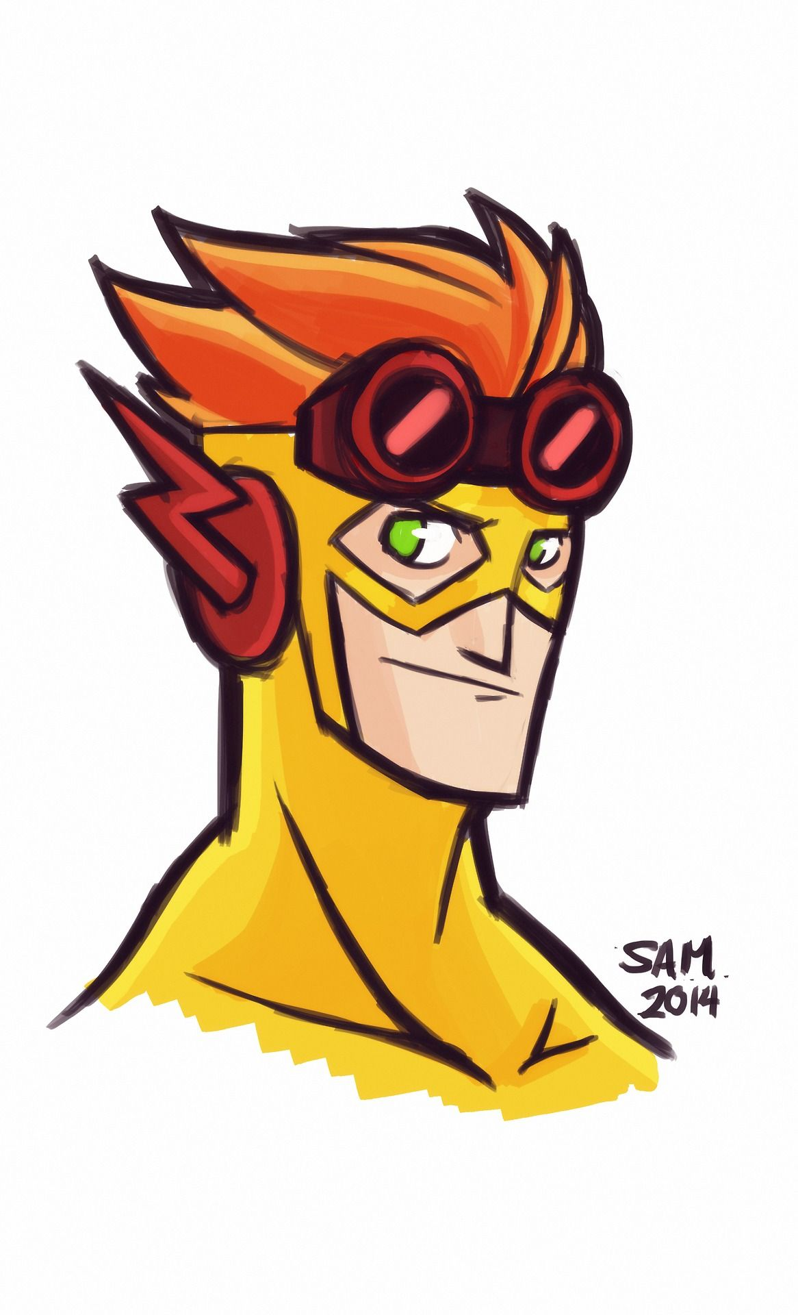 1166x1920 kid flash fanart kid flashwally west young justice, kid flash