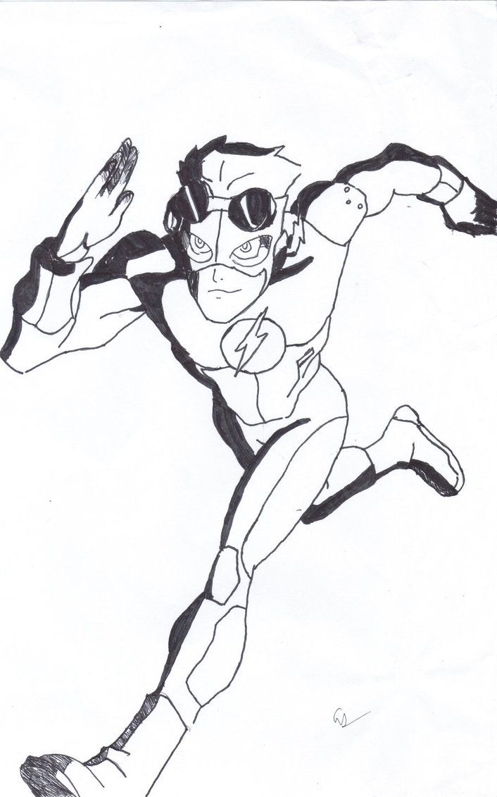 706x1131 how to draw kid flash kid flash