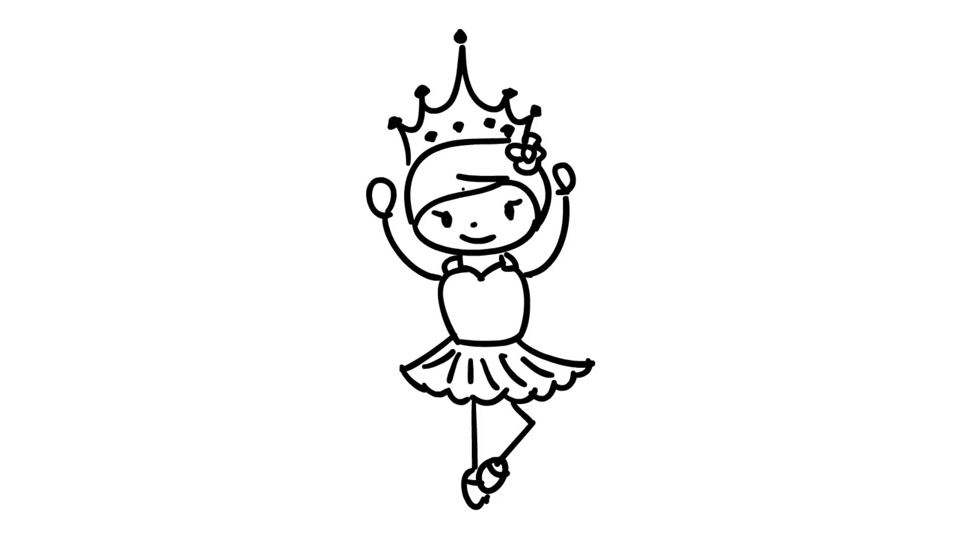 1920x1080 Christmas Kids Wearing Fancy Dress Line Drawing Illustration