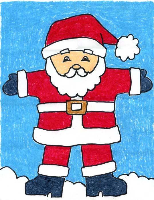 538x700 Draw Santa Claus School Art Santa Claus Drawing, Christmas Art
