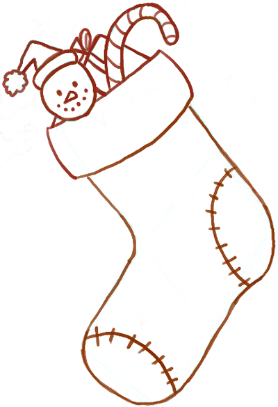 400x585 How To Draw Christmas Stockings With Easy Steps For Kids