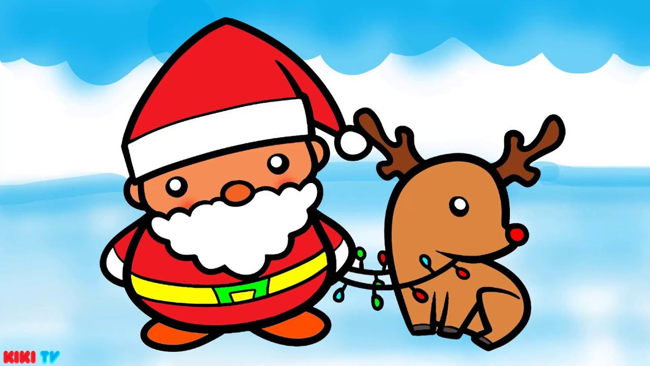 1280x720 Pere Noel Coloring Pages Unique How To Draw Santa Claus For Kids