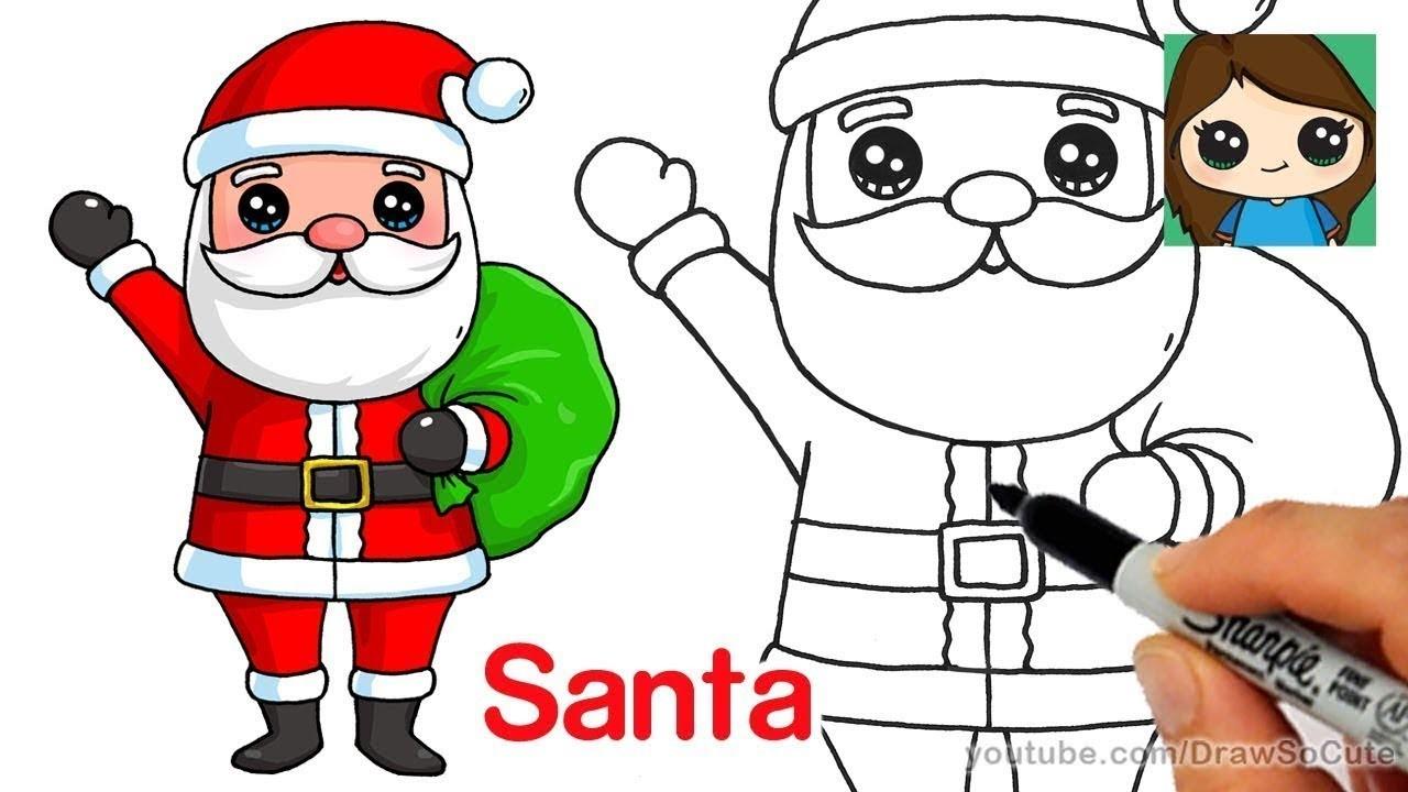 1280x720 Christmas Drawings For Kids Cute