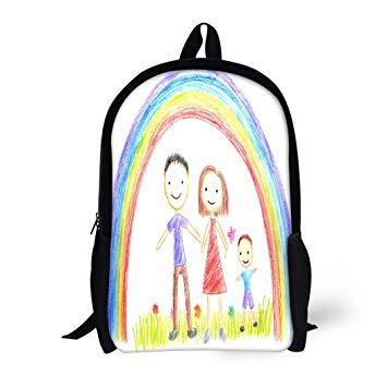 355x355 Pinbeam Backpack Travel Daypack Child Kids Drawing
