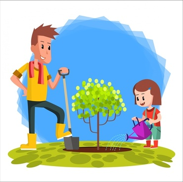 370x368 Vector Family Drawing Kids Free Vector Download