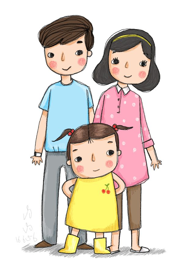 600x867 Cute People Running Around On My Walls D Wall Ideas Family