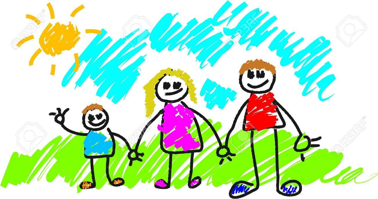 1300x685 My Family Children's Drawings