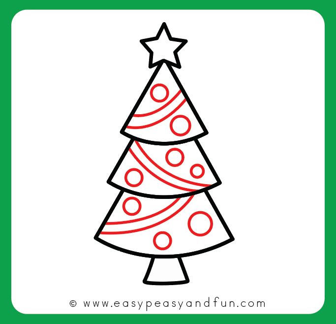 683x658 How To Draw A Christmas Tree