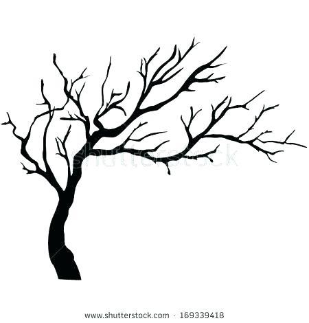 450x470 simple tree drawing simple tree trunk outline tree trunk printable