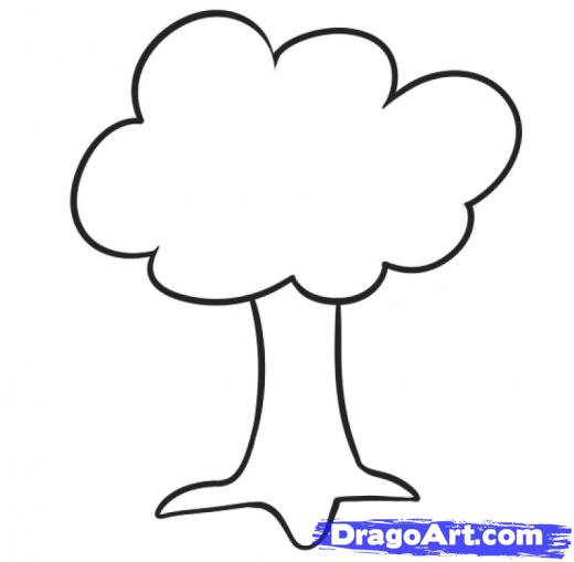 520x509 Step How To Draw A Tree For Kids