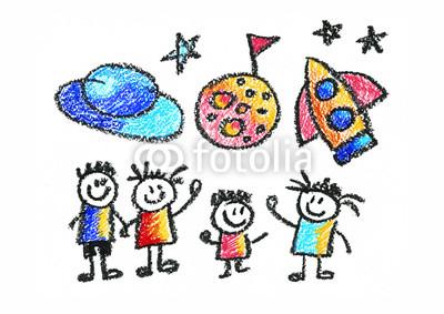 400x283 Kids Drawing Space Children Education, School, Kindergarten Play