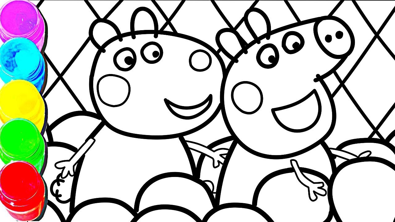 1280x720 Peppa Pig Soft Play Coloring And Drawing For Kids, Toddlers
