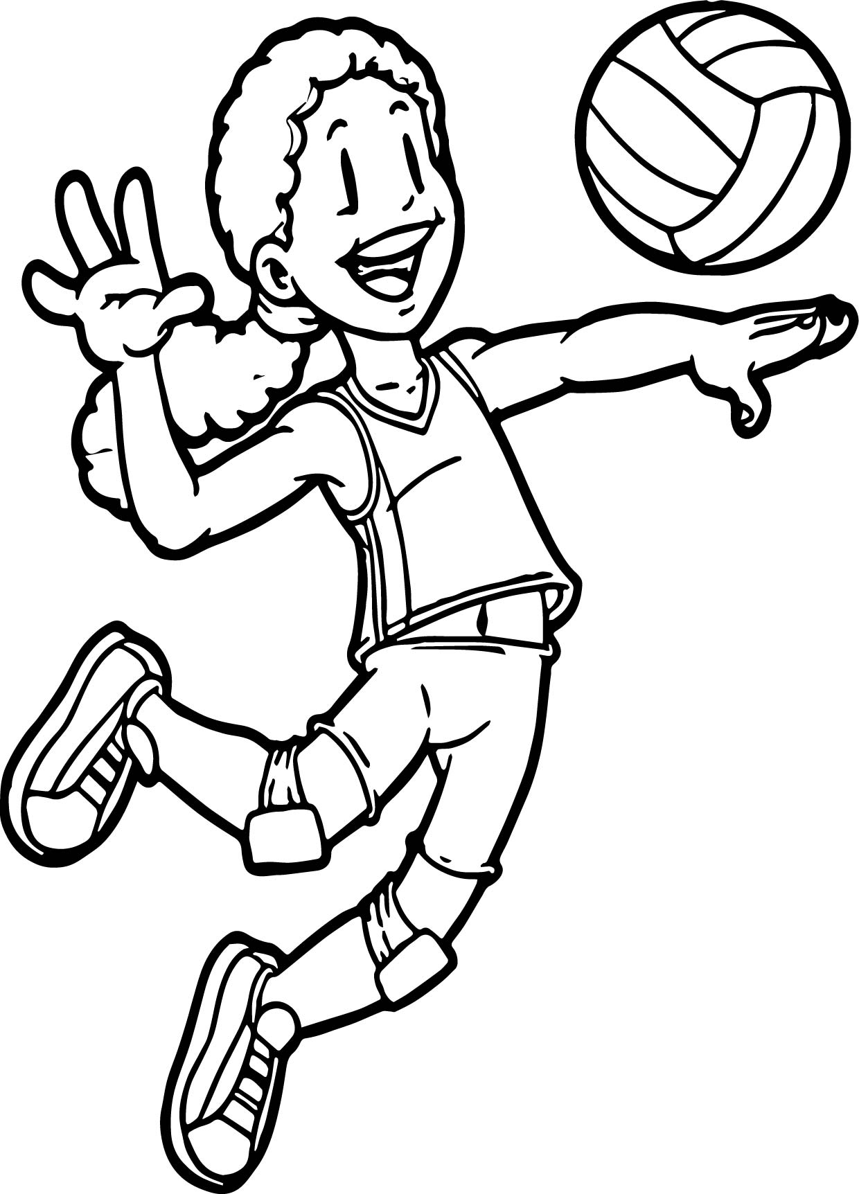 1240x1724 Volleyball Coloring Pages Kids Playing Sports