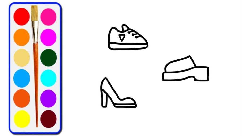 1024x576 Easy Tips To Draw Shoes Drawing And Colouring Pages For Kids