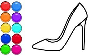 320x180 Glitter Women's Shoes Drawing Coloring For Kids Coloring Pages