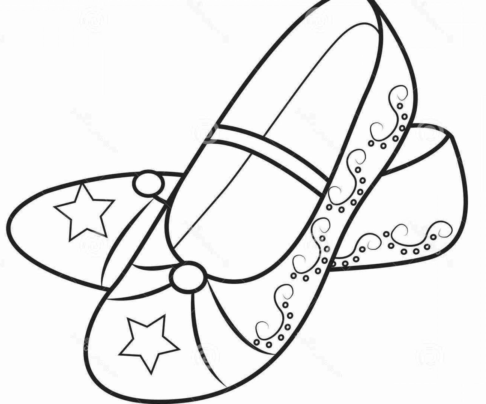 1560x1296 High Heel Shoe Coloring Pages For Adults And Kids In Color