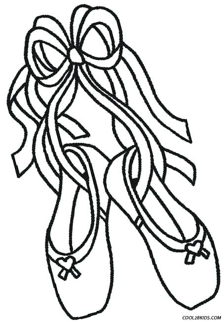 454x650 Pointe Shoes Coloring Pages Ballet Slippers Coloring Pages