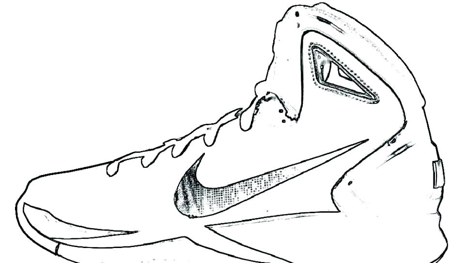 960x544 Retro Coloring Pages Shoes Coloring Pages Sneaker Coloring
