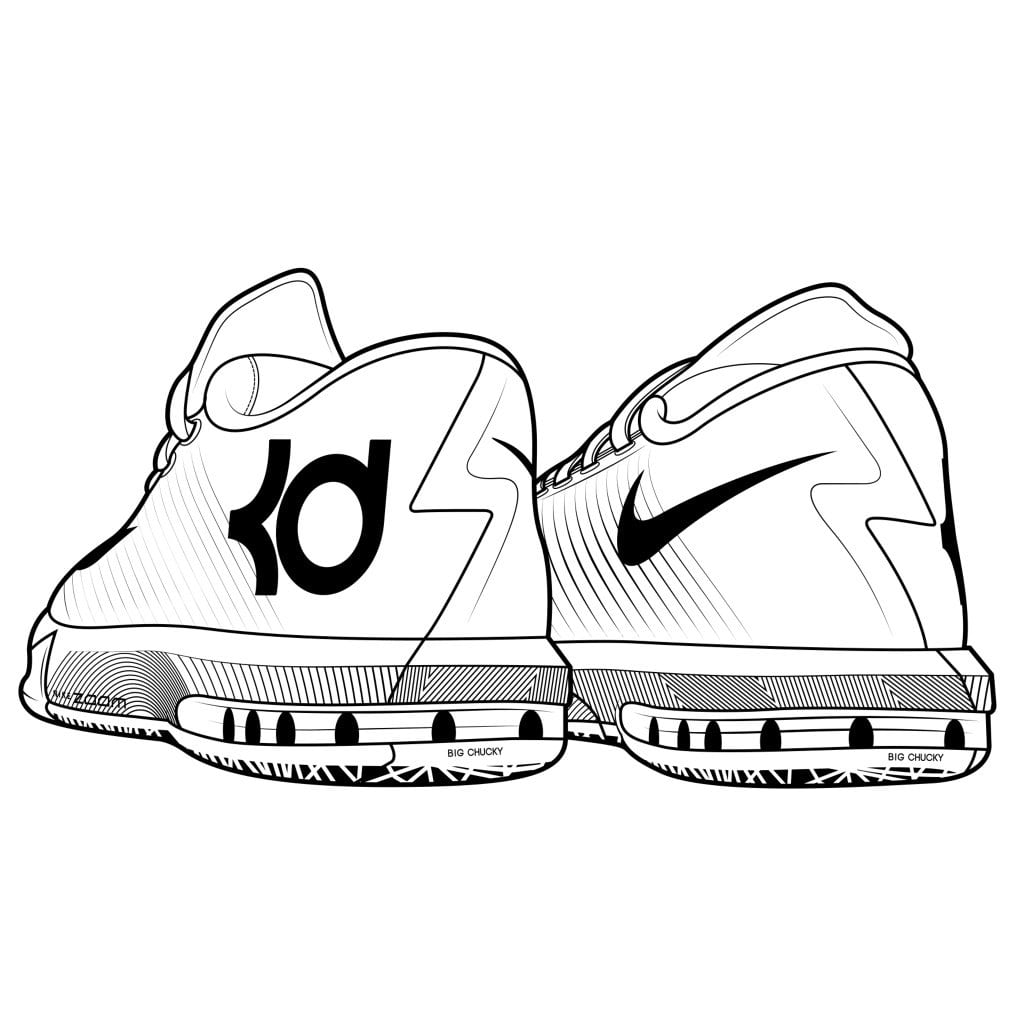 1023x1023 Stephen Curry Shoes Coloring Pages Download For Kids Throughout