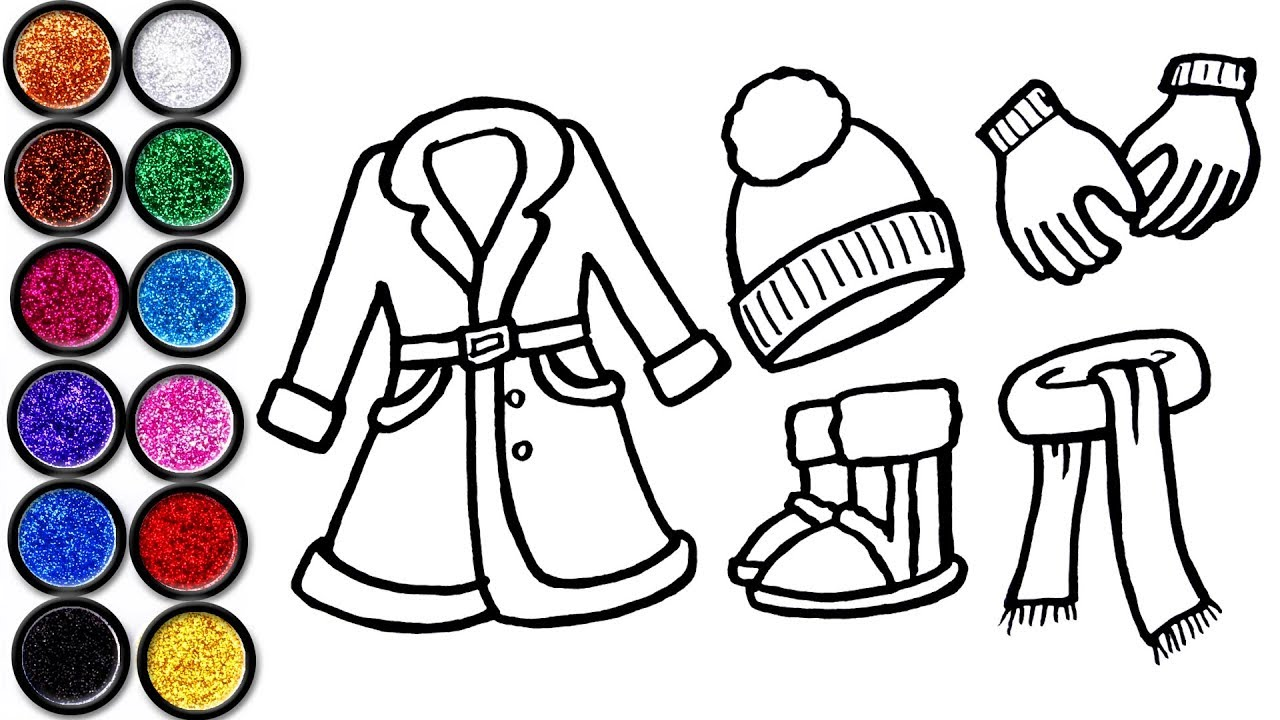 1280x720 Winter Dress Coloring And Drawing For Kids, Toddlers Learn